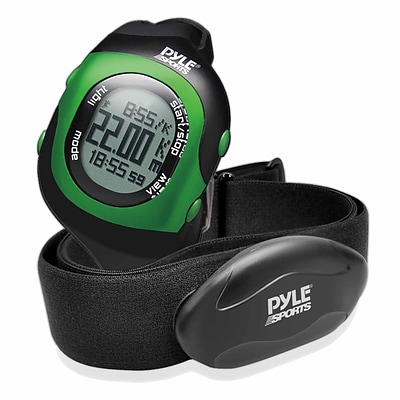 Pyle Bluetooth Fitness Heart Rate Monitoring Watch with Wireless Data Transmission and Sensor (PSBTHR70GN)