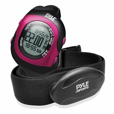 Pyle Bluetooth Fitness Heart Rate Monitoring Watch with Wireless Data Transmission and Sensor (PSBTHR70PN)
