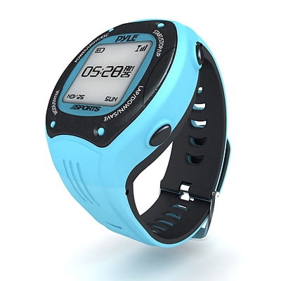 Pyle Multi-Function Digital LED Sports Training Watch with GPS Navigation (PSGP410BL)