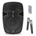 Pyle PPHP159WMU 15 1600-Watt Bluetooth Music Streaming Portable Loudspeaker System, Black