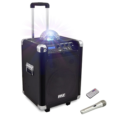 Pyle Pro PCMX280B Disco Jam Portable Bluetooth PA Speaker System Black