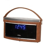 Jensen SMPS-725 Bluetooth Wireless Stereo Speaker with FM Radio Brown/Silver