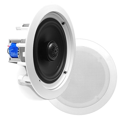 Pyle PDIC80T 8 Two-Way In-Ceiling Speakers with 70V Transformer, White