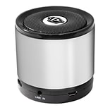 Pyle PBS2SL Bluetooth Mini Speaker with Hands-Free Call Answering and Music Streaming, Silver
