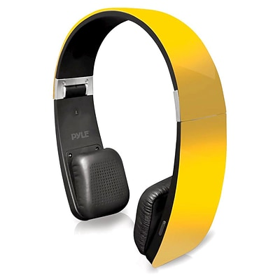 Pyle Home PHBT6Y Bluetooth 2-in-1 Stereo Headphones with Built-in Microphone Yellow