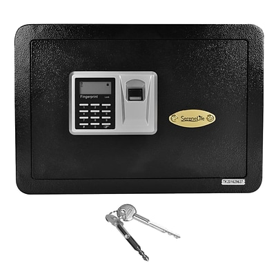 Serene Life 0.7 Cu. Ft. Electronic Fingerprint Safe Box (SLSFE22FP)