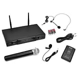 Pyle Pro PDWM2115 VHF Wireless Microphone Receiver System with Independent Volume Control