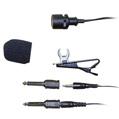 Pyle PLM3 Wired Lavalier 3.5mm/ 1/4 Uni-Directional Microphone