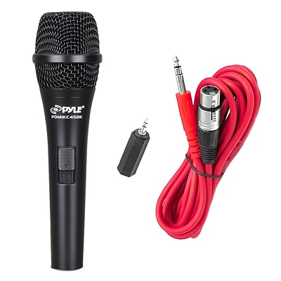 Pyle Pro PMIKC45BK Professional Handheld Vocal Cardioid Condenser Microphone With 15 Feet XLR Cable