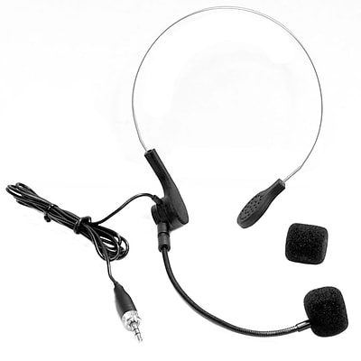 Pyle Pro PMEMSH15 Cardioid Condenser Headset Microphone With Flexible Wired Boom (for Sennheiser Wireless Mic Systems)