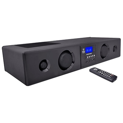 Pyle PSBV200BT 300 Watt Bluetooth Soundbar with USB/SD/FM Radio & Wireless Remote Dark Grey