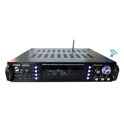 Pyle 2000-Watt Bluetooth Hybrid Pre-Amplifier And Home Theater Stereo Amp Receiver (P2203ABTU)