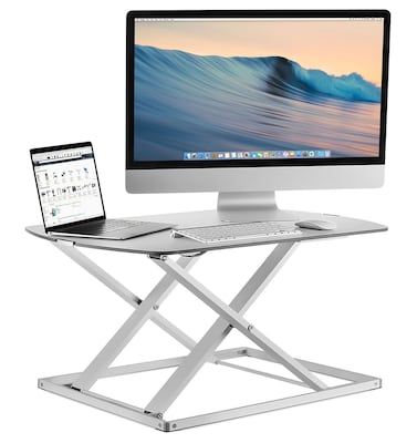 "Mount-It! Sit Stand Desk Converter, Height Adjustable Standing Desk, 31"" W x 22"" D Stand-Up Workstation, holds 22 lbs (MI-7928)"