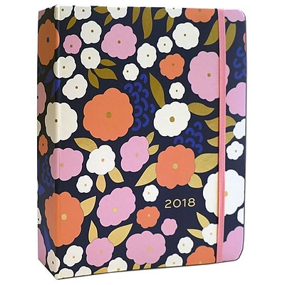 2018 High Note 8.25 x 7 18-Month Weekly Hardcase Organizer Floral Pattern in Gold (CHH0302)