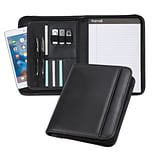 Samsill® Professional Black Nappa Leather Junior Padfolio (70821)