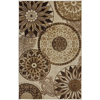 Mohawk Nylon New Wave Inspired India Neutral Area Rug (797786002631)