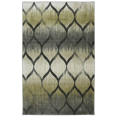 Mohawk Nylon New Wave Garden Hatch Pewter Area Rug (86093455385)