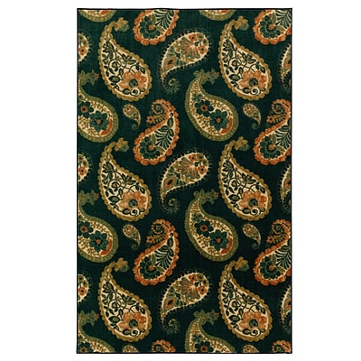 Mohawk Nylon Aurora Lovely Paisley Navy Area Rug (797786012937)