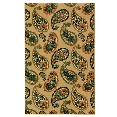 Mohawk Nylon Aurora Lovely Paisley Cool Area Rug (797786012913)
