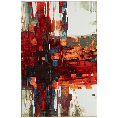 Mohawk Nylon New Wave Crossed Collage Multi-colored Area Rug (86093553692)