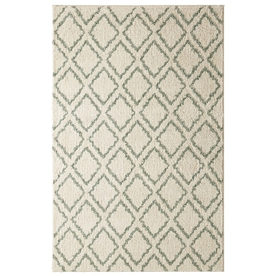 Mohawk Polyester Laguna Magic Fret Aqua Area Rug (797786014405)