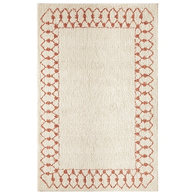 Mohawk Polyester Laguna Chained Border Coral Area Rug (797786014542)