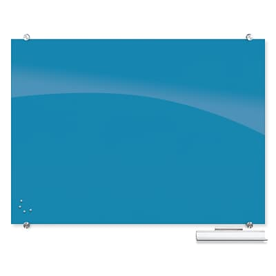 Best-Rite Visionary Colors Magnetic Glass Dry Erase Whiteboard 35.43 x 47.24 Blue (83844-Blue)