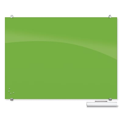 Best-Rite Visionary Colors Magnetic Glass Dry Erase Whiteboard 35.43 x 47.24 Green (83844-Green)