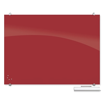 Best-Rite Visionary Colors Magnetic Glass Dry Erase Whiteboard 35.43 x 47.24 Red (83844-Red)