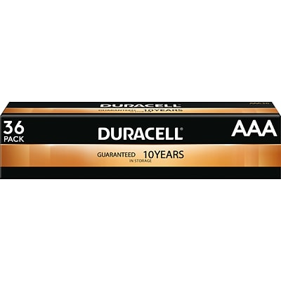 Duracell Coppertop Alkaline AAA Battery, 36/Pack (MN24P36)