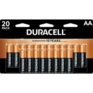 Duracell Coppertop AA Alkaline Batteries, 20/Pack (MN1500B20Z)