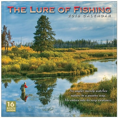 2018 Sellers Publishing, Inc. 12 x 12 Lure Of Fishing Wall Calendar (CA0145)