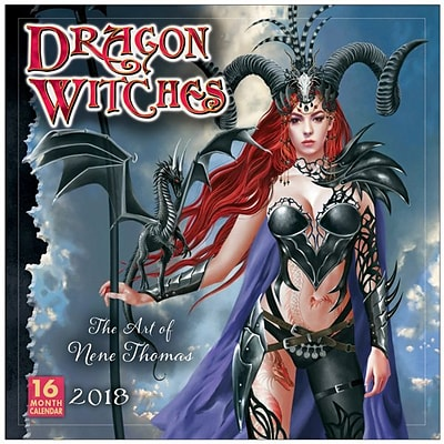 2018 Sellers Publishing, Inc. 12 x 12 Dragon Witches: The Art Of Nene Thomas Wall Calendar (CA0127)
