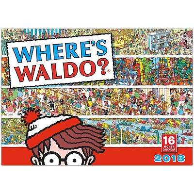 2018 Sellers Publishing, Inc. 12 x 12 Wheres Waldo?® Wall Calendar (CA0171)