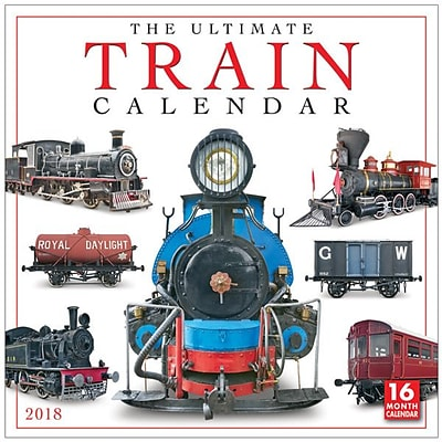 2018 Sellers Publishing, Inc. 12 x 12 Ultimate Train Calendar Wall Calendar (CA0187)