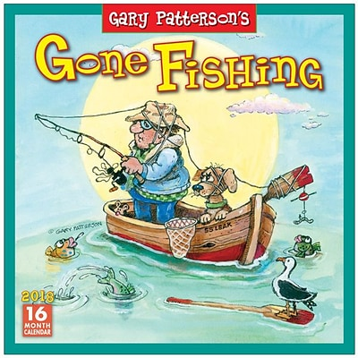 2018 Sellers Publishing, Inc. 12 x 12 Gone Fishing, Gary Pattersons Wall Calendar (CA0136)