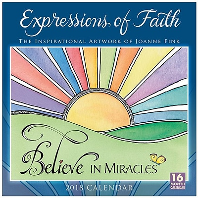 2018 Sellers Publishing, Inc. 12 x 12 Expressions Of Faith: The Inspirational Artwork Of Joanne Fink Wall Calendar (CA0183)