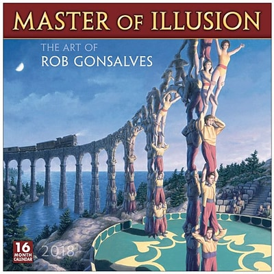 2018 Sellers Publishing, Inc. 12 x 12 Master Of Illusion: The Art Of Rob Gonsalves Wall Calendar (CA0146)