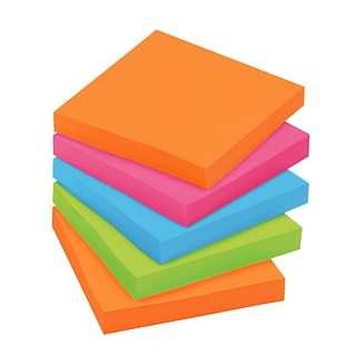 Post-it® Super Sticky Notes Cabinet Pack, 3 x 3, Rio de Janeiro Collection, 70 Sheets/Pad, 24 Pads