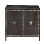 Right2Home Legion Two Door Accent Chest with Skull Hardware 28L x 14W x 28H (DS-P006002)