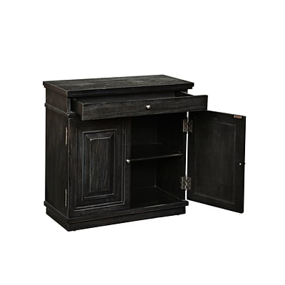 Right2Home Charcoal Neoclassic Door Chest 28L x 13W x 28H (DS-2498850)