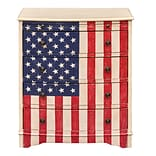 Right2Home American Flag Accent Drawer Chest 26L x 17W x 31.25H (DS-D018004)