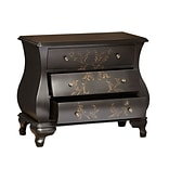 Right2Home Black Hand Painted Bombay Chest 337L x 15.94W x 27.94H (DS-P017071)