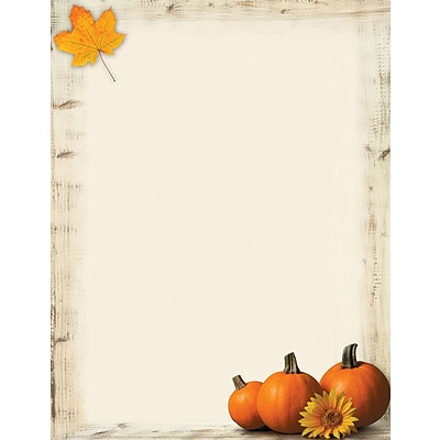 Great Papers!® Holiday Stationery, Pumpkin Sunflower, 8.5 x 11, 80 Sheets (2017014)