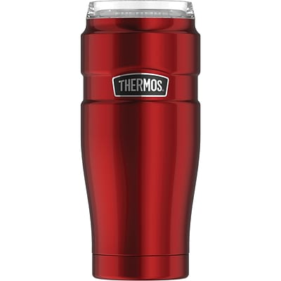 Thermos 32-Ounce Stainless Steel Travel Tumbler with 360 degrees  Drink Lid, Cranberry (SK1300CR4)
