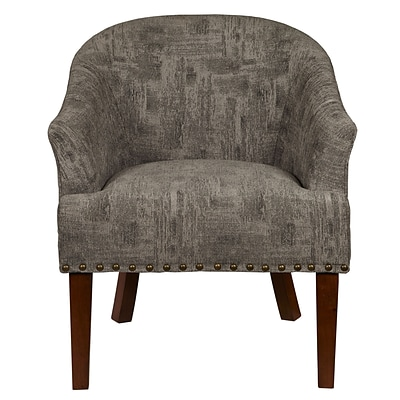 Right2Home Upholstered Bruno Pewter Chair (DS-D102005-582)