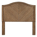 Right2Home Camel Back Queen Wood Headboard 59.69 L x 1.7 W x 60.0 H Cerused Oak (DS-D112001)