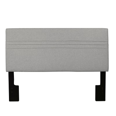 Right2Home Upholstered Queen Polyester Headboard 3.94 L x 64.96 W x 55.91 H Hayden Silver (DS-2218-250-HS)