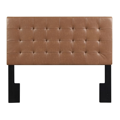 Right2Home Biscuit Tuft Full / Queen Faux Leather Headboard 65.5 L x 4.0 W x 58.0 H Lummus Cognac (DS-D028-250-460)
