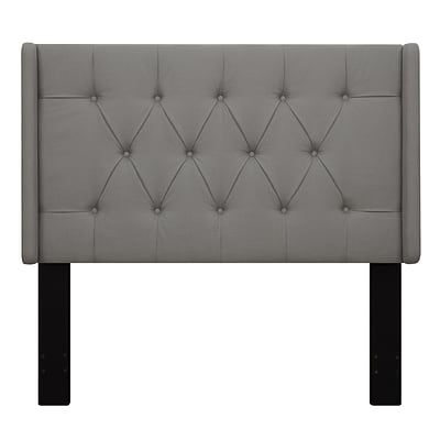 Right2Home Shelter Button Tufted Full / Queen Polyester Headboard 64.5 L x 7.8 W x 60.0 H Ash (DS-D017-250-372)